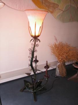 Kunstschmiedeeiserne Leuchte