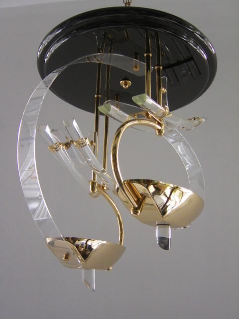Designleuchte Gold Akrylglas