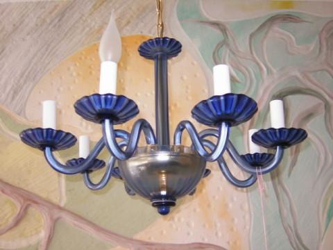 Flämischer blauer Glasleuchter