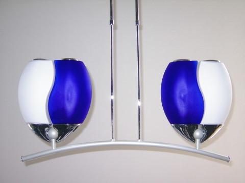 Designleuchte Welle blau weiß