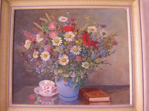 Gemälde Wiesenblumenstrauß von Marta Klaus